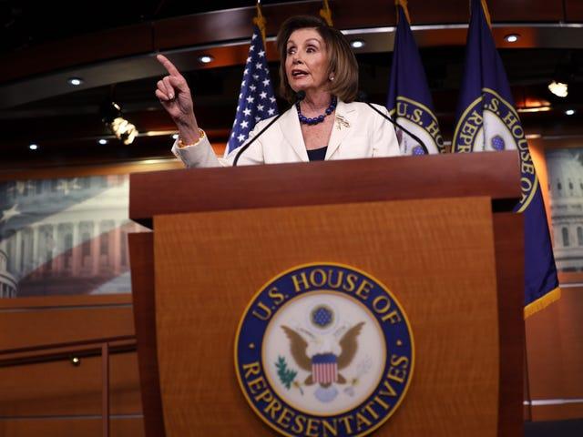 La presidenta de la Cámara de Representantes, Nancy Pelosi, enviará artículos de juicio político al Senado