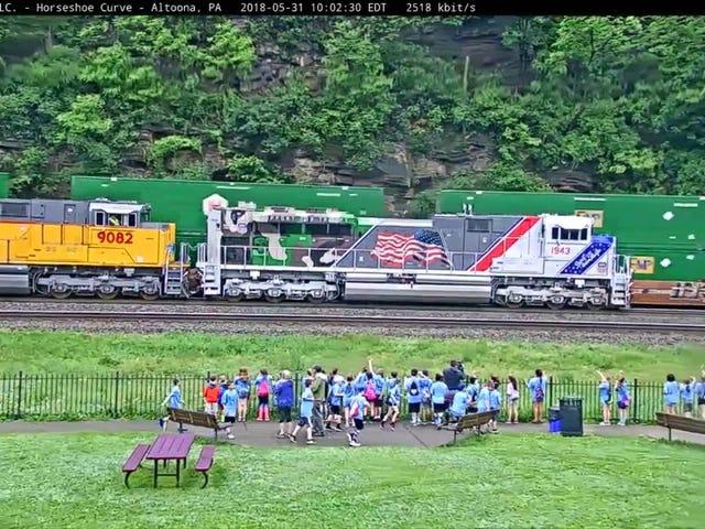 Union Pacific Business Car Train at the Pennsylvania Horseshoe Curve!
