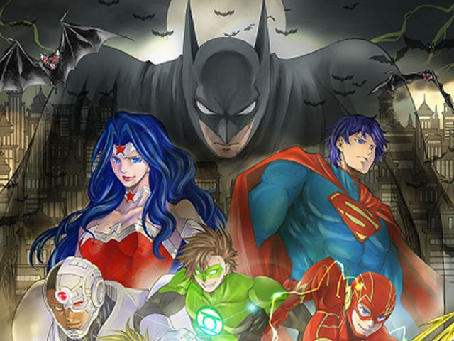 The manga of Batman and the Justice League is coming to the west