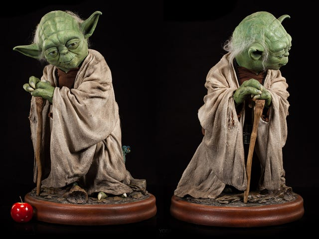 A Jedi Master Would Surely Approve of Spending $2,500 on This Life-Size Yoda
