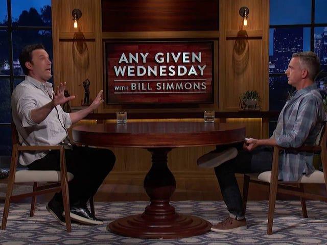 Бен Аффлек выглядел супер забитым на новом шоу HBO Билла Симмонса прошлой ночью