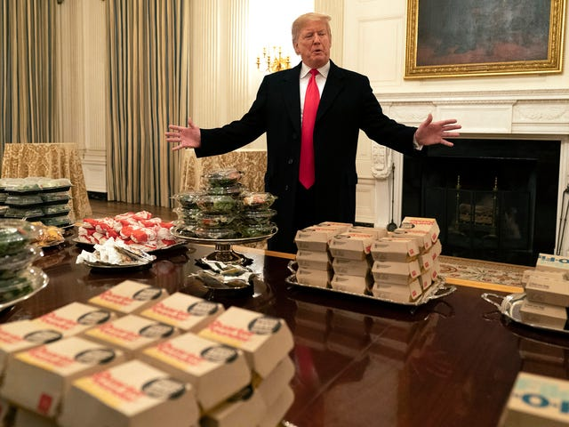 "Trump served 1,000 ""hamberders"" to national champion football team"