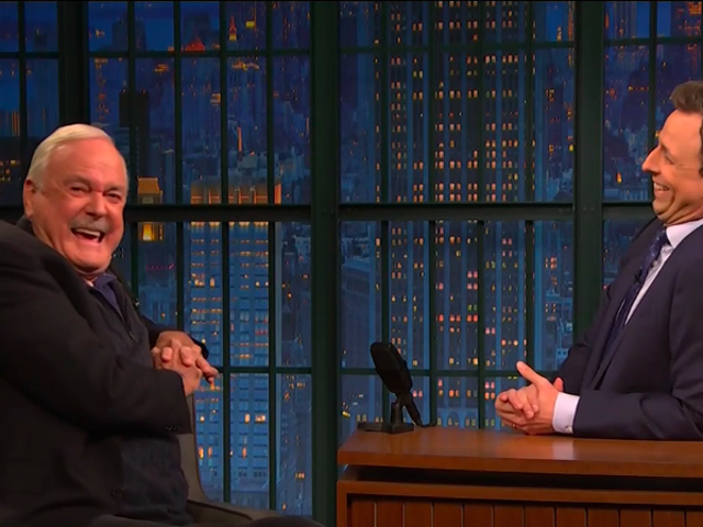 On Late Night With Seth Meyers to talk Python, John Cleese is grumpily delightful, delightfully grumpy