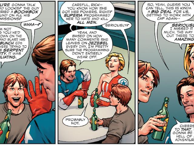 Der heutige Captain America erzählt präzise die Geschichte jedes Angestellten und Kommentators von Jezebel