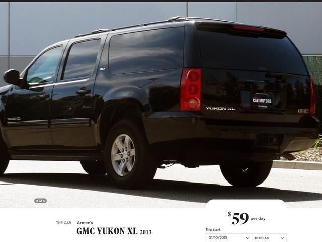 Now I am renting a GMC Yukon XL instead, typical Turo problems..
