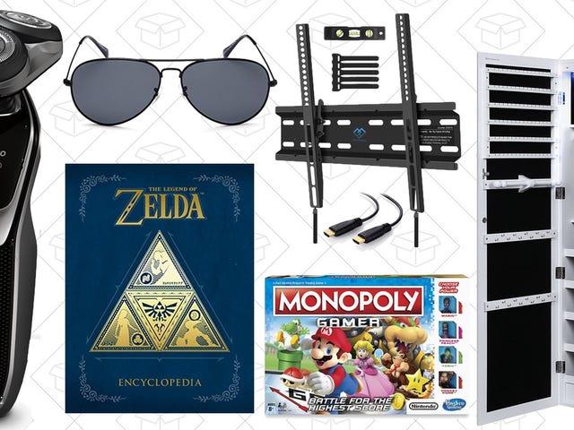 周日的最佳交易:珠宝存储,塞尔达百科全书,$ 21太阳镜,等等