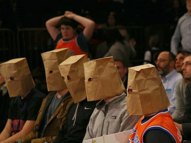Knicks Fans Have Finally Reached For The Paper Bags