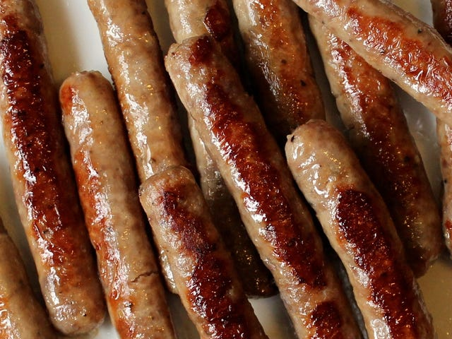 Breakfast sausage is better than bacon.
