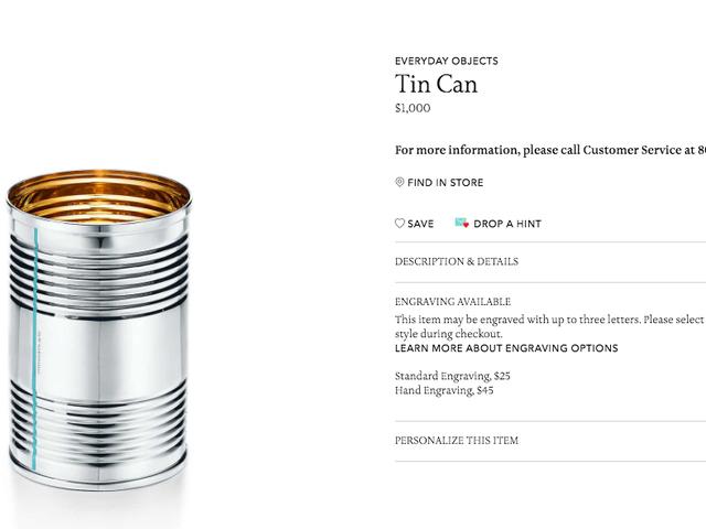 Pourquoi acheter un iPhone X quand vous pouvez payer Tiffany & Co. 1 000 $ pour une boîte de conserve?