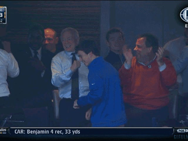 New Jersey Governor Chris Christie, Sweaty And Hype For The Cowboys
