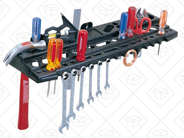 Organize All Your Tools On This $6 Wall Rack