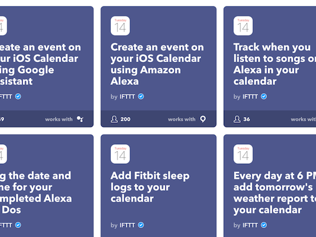 IFTTT Adds Support for the iPhone Calendar and App Store