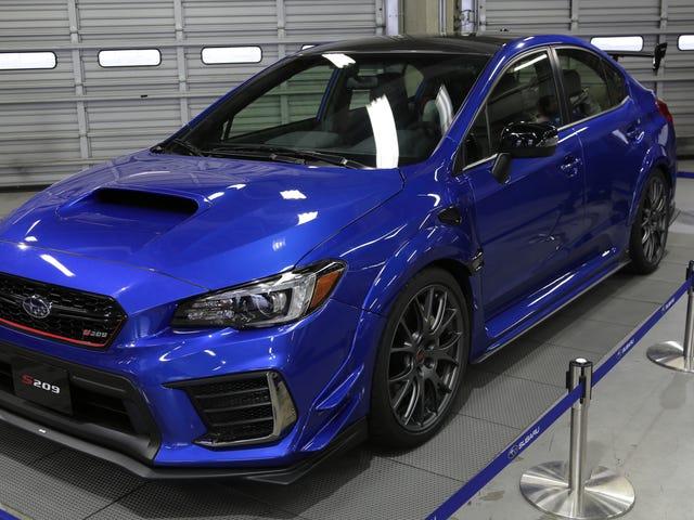 Tại sao Subaru WRX STI S209 không được Subaru chế tạo về mặt kỹ thuật