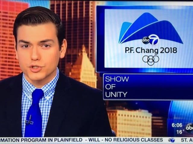 Il y a une raison pour laquelle une station de télévision a mélangé PF Chang pour Pyeongchang - et c'est prévisible Trash