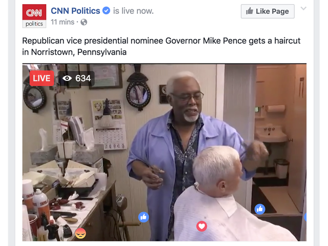 Live Sports: Mike Pence Getting A Hair Cut