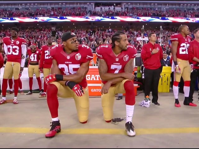 Colin Kaepernick Continues Protesting During National Anthem, Four Players Raise Fists [Update]