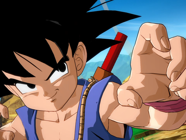 Dragon Ball FighterZ's Kid Goku Is A Muscular Hamster