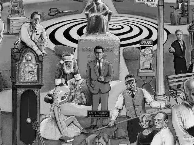 ¿Puedes elegir todas las referencias en este póster de la <i>Twilight Zone</i> Mega <i>Twilight Zone</i> ?
