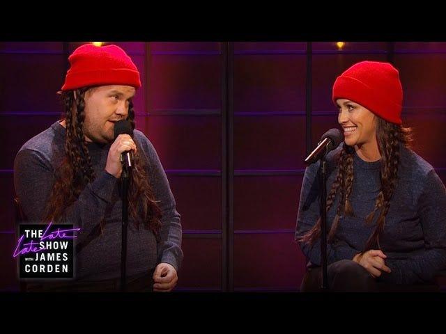 """Alanis Morissette e James Corden cantano un aggiornamento """"ironico"""""""
