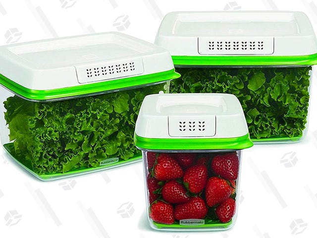 Keep Your Food Fresh In These Discounted Rubbermaid Containers