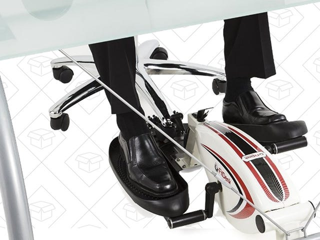Get a Workout While You Work With This Under-Desk Elliptical Deal