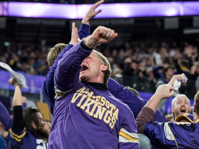 Watch Vikings Fans Lose Their Minds Over Stefon Diggs's Touchdown