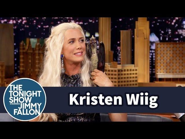 """Kristen Wiig s'est présentée sur Fallon sous le nom de Khaleesi (son vrai nom """"Karen"""")"""