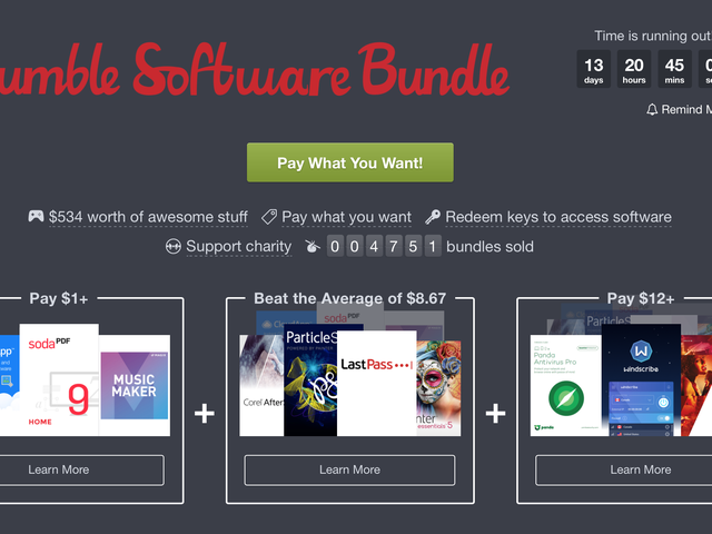 No Games? No Problem. The Latest Humble Bundle Has a Ton of Great Software For Cheap.