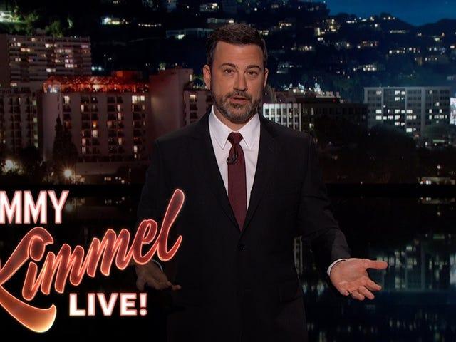 Jimmy Kimmel öppnade måndagens show i tårar med en berättelse om hans barns öppen hjärtkirurgi