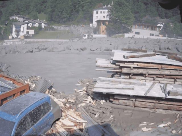 Esto es lo que pasa cuando una avalancha de lodo destructie por completo un pueblo