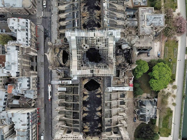 Aerial Photos of Notre-Dame de Paris