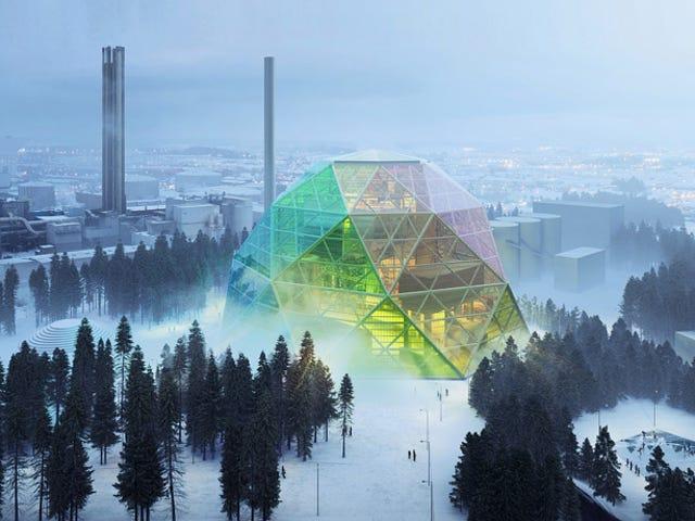 Αυτός ο τρελός γεωδαιτικός θόλος είναι στην πραγματικότητα ένας σταθμός παραγωγής ενέργειας