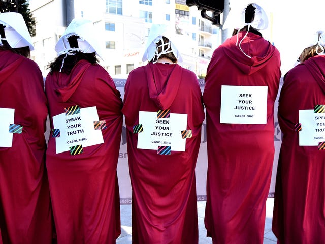 During the Newly Woke Academy Awards, These #OscarsSoComplicit Activists Protested Statutes of Limitations for Rape