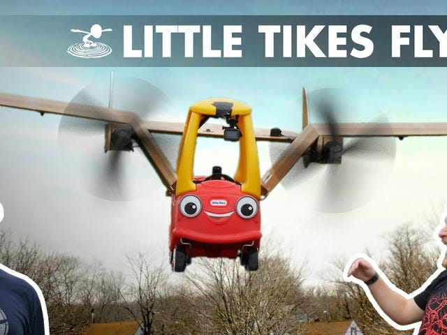 Hobbyists uçan araba inşa