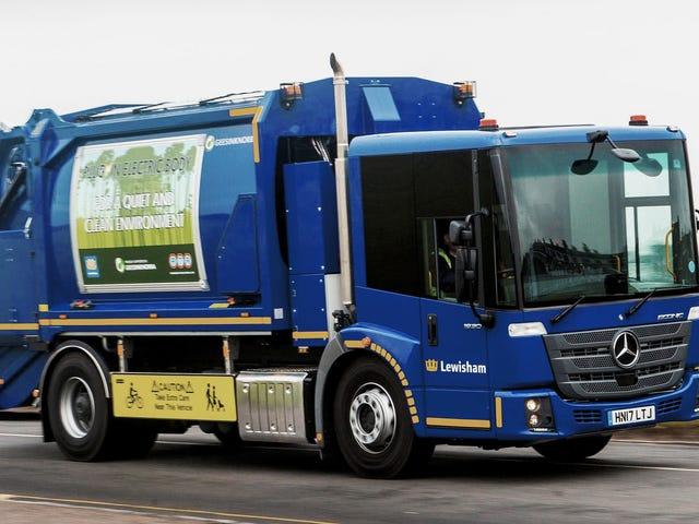 Daimler Umum Pengeluaran Lori Sampah Elektrik