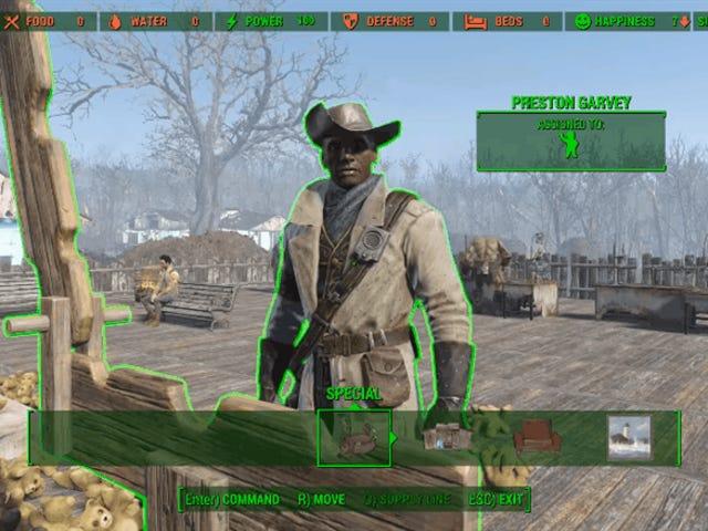 <i>Fallout 4</i> Spieler foltern Preston Garvey mit den <i>Contraptions</i> DLC