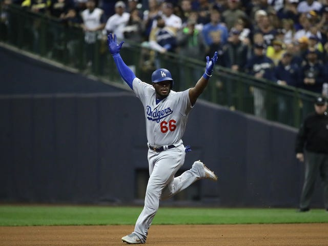 Yasiel Puig Homered, Crotch-Chopped, And Enjoyed Himself In Game 7