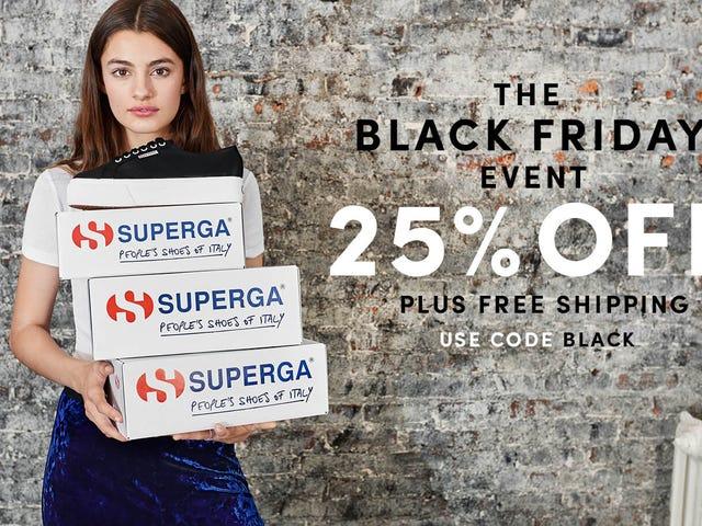 Verkrijg de basis sneakers die je nodig hebt gehad met 25% korting en gratis verzending van Superga