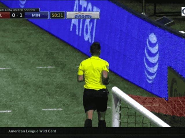 Bad Fan Beans Referee With Fountain Drink Cup