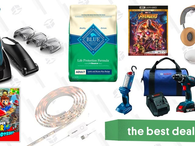 Tuesday's Best Deals: Switch Games, Norelco Bodygroomer, Smart Light Strip, and More