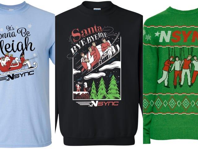 """Не соромтеся здобути мене в цій сорочці з """"Сідней"""" в * NSYNC's Holiday Merch"""