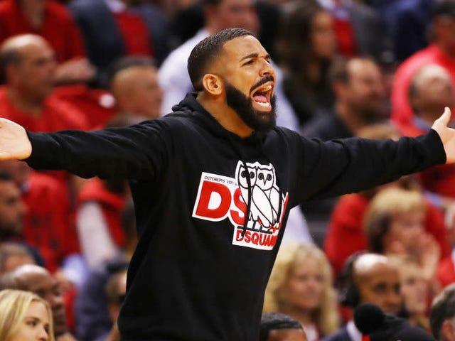 Drake Cuts Sweaty Promo About How Raptors Fans Are Really Good At Following The Rules