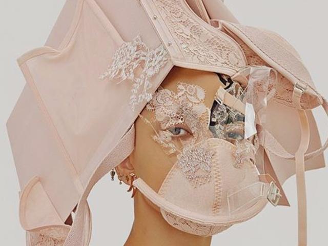 Fashion Prophetess FKA Twigs Wears Her Bras Like a Face Mask