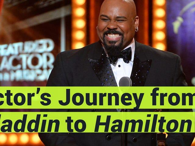腕時計:スターのブロードウェイの<i>Aladdin</i>は、 <i>Hamilton</i>新しい役割を与えられた彼の願いを得続ける