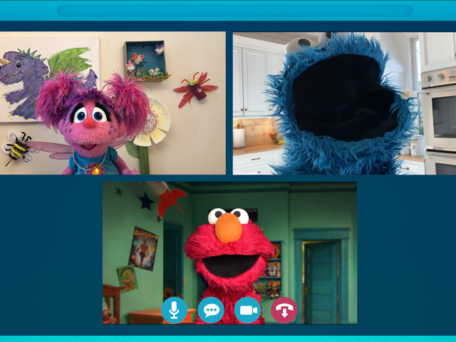 These are the people in your Zoom chat: Sesame Street hosts a social-distancing playdate
