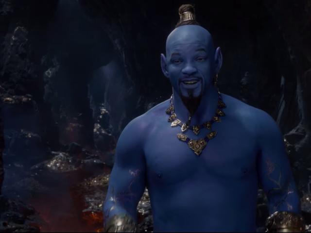 สมิ ธ จะแน่ใจหรือไม่ว่าหน้าตาเป็นสีฟ้าในทีเซอร์ <i>Aladdin</i> ใหม่