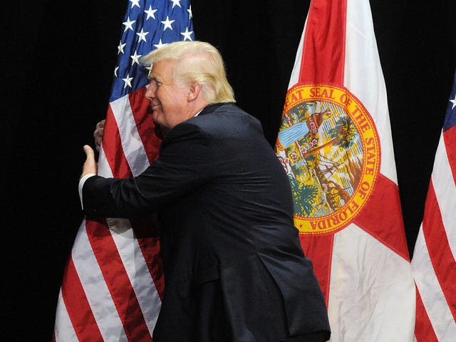 An Exclusive Interview With the American Flag; You Know, the One the President Keeps Stroking