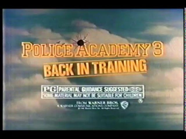 Police Academy Promos and TV Spots