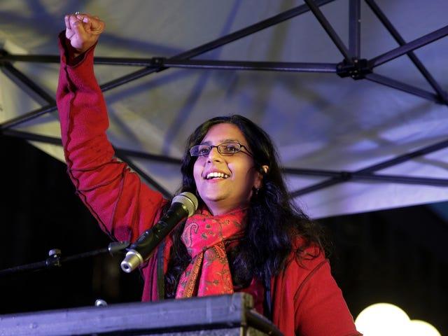Kshama Sawant gaat Amazon verslaan in Seattle dankzij tweedaagse levering