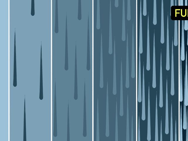 Quels sont les degrés de pluie?
